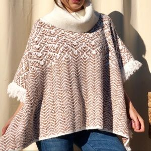 NEW Worldmarket sweater cape turtleneck s m l
